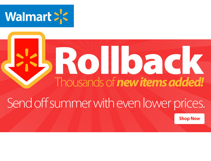 Walmart Rollback Sale - Thousands of New Items