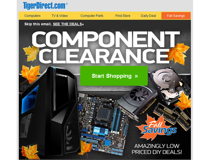 Tiger Direct Component Clearance Sale