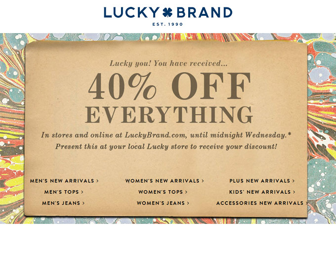 Everything at Lucky Brand