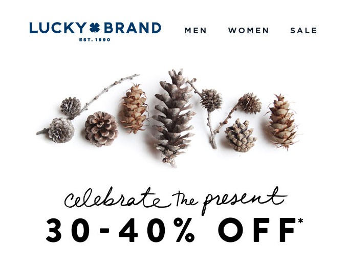 Extra 30-40% off at Lucky Brand