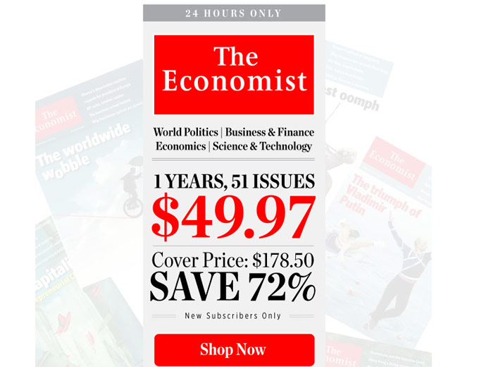 72% off The Economist Magazine Subscription, 51 Issues ...