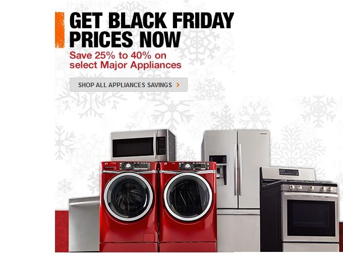 Get Black Friday Prices Now on Appliances