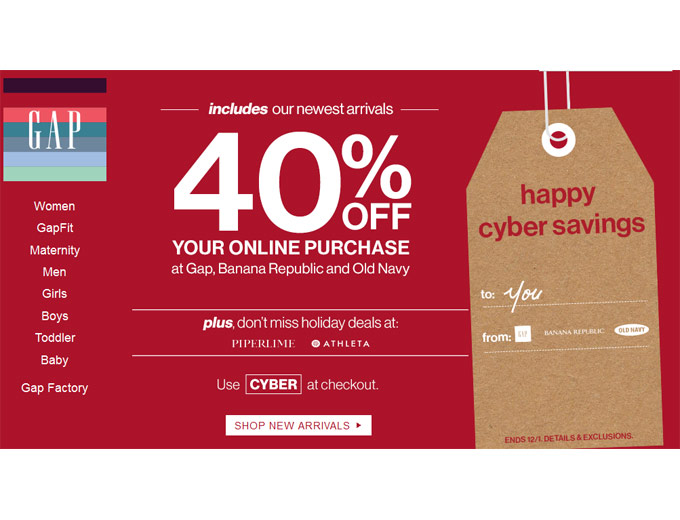 CAP Cyber Monday Deals - 40% off Entire Purchase