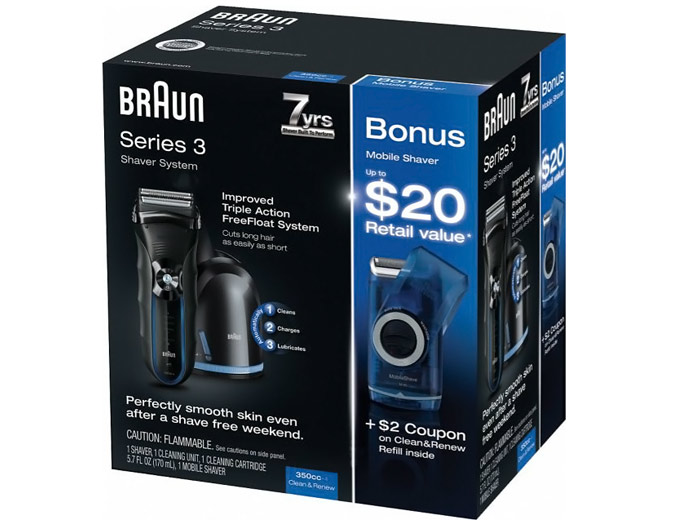Braun Shaver 350cc with Mobile Shaver
