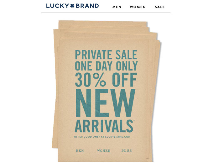 All New Arrivals at Lucky Brand