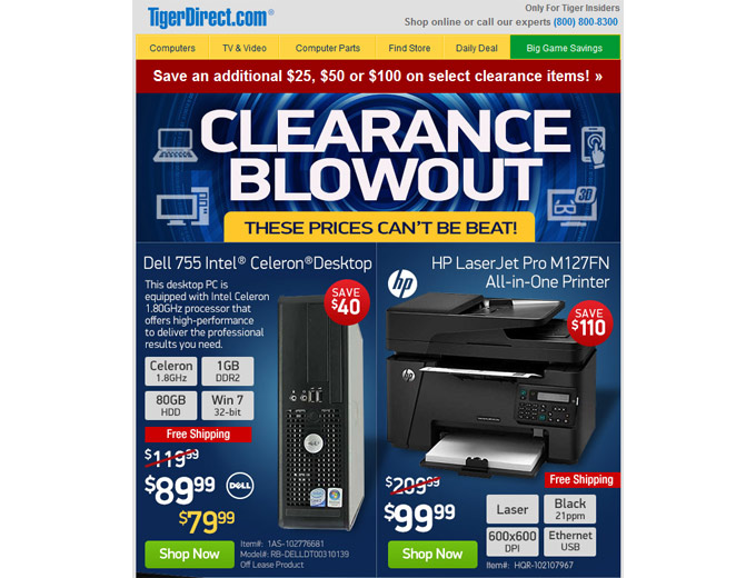 Tiger Direct Sale - Tons of Great Deals