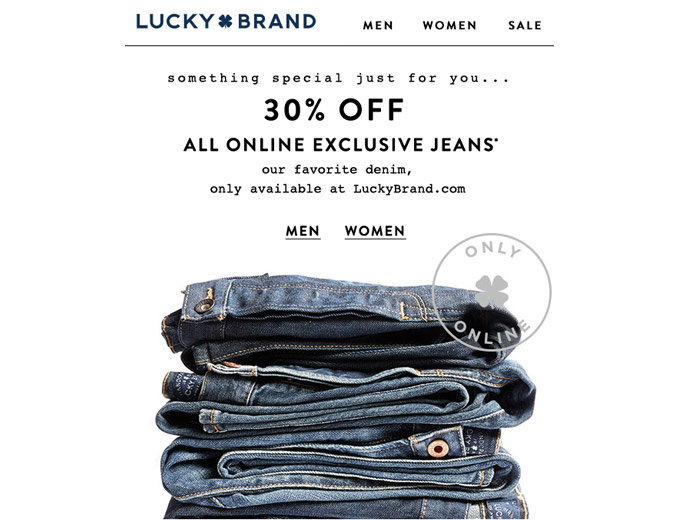 Online Exclusive Jeans at Lucky Brand