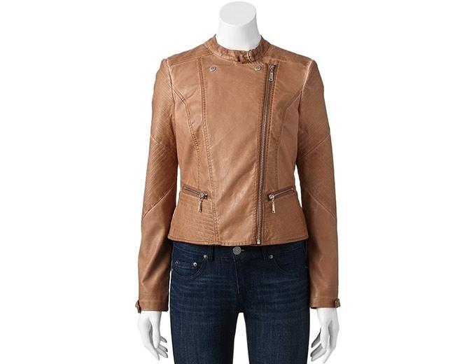 4d3e00377 80% off J2 by Jou Jou Asymmetrical Moto Jacket, $15.60