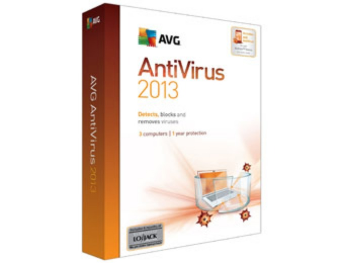 Free AVG Anti-Virus 2013 - 3PC
