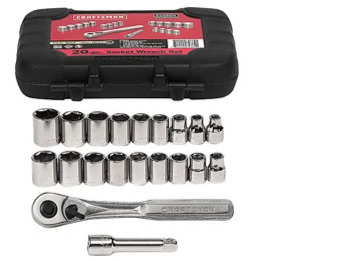 Craftsman 20-pc Inch and Metric Socket Set