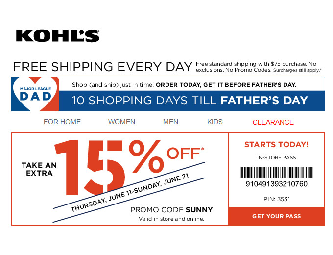 Extra 20% off Your Purchase at Kohl's