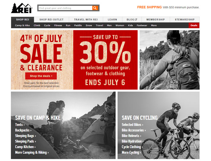 REI 4th of July Clearance Sale