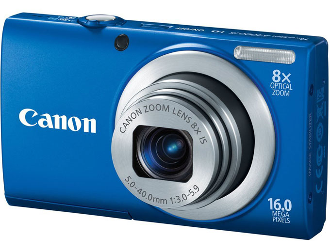 Canon PowerShot A4000IS 16MP Camera - Blue