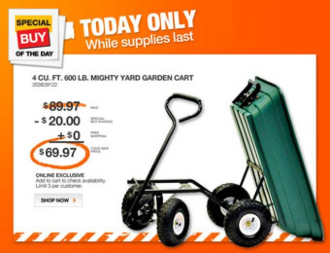 Precision LC2000 Mighty Garden Yard Cart