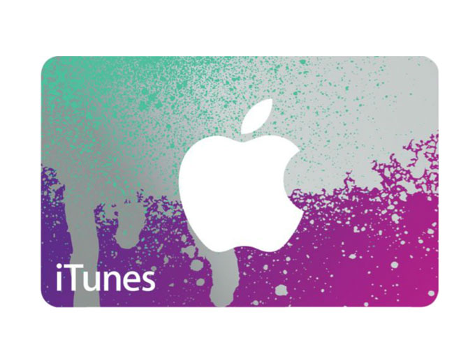 $100 Apple iTunes Cift Card
