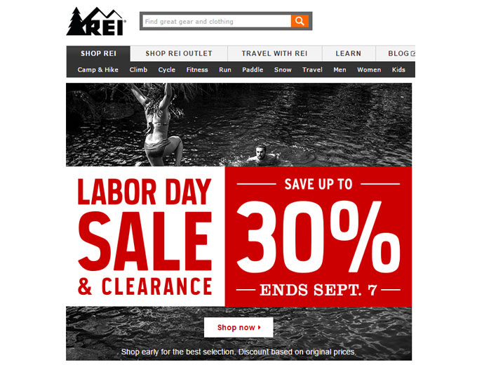 REI 2015 End of Summer Sale - Up to 30% off
