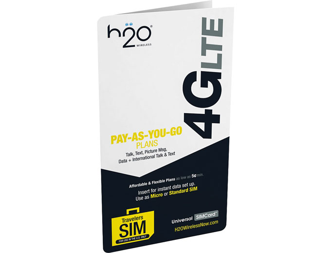 H2O Wireless 3-in-1 Universal SIM Card