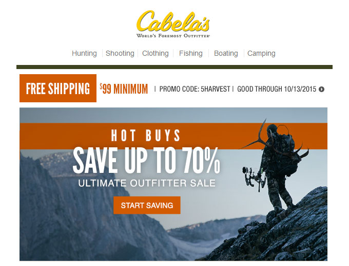 Cabela's Ultimate Outfitter Deals