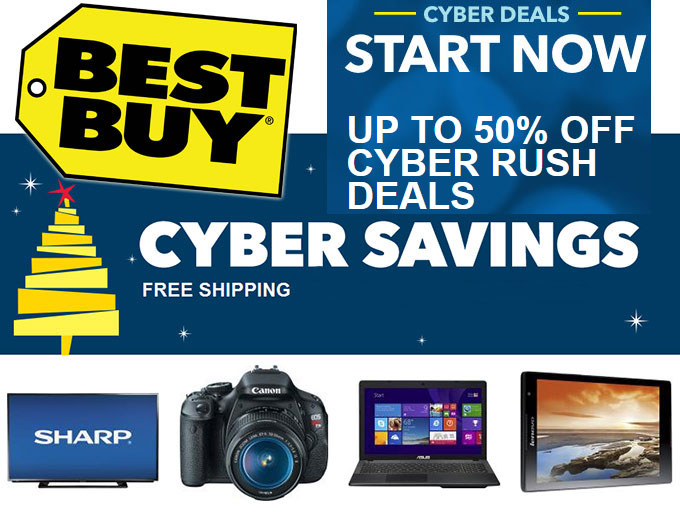 Best Buy Cyber Monday Rush Sale
