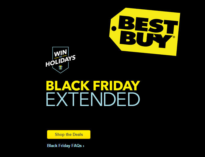 Best Buy Black Friday Extended Deals