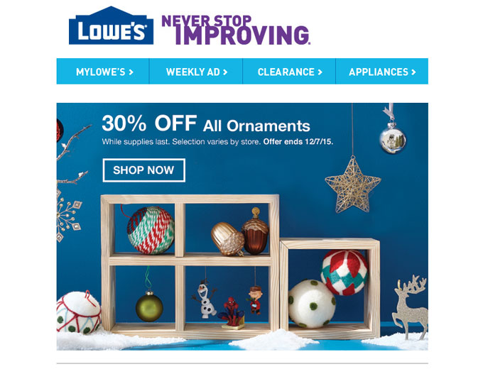 all christmas ornaments at lowes - Lowes Christmas Ornaments