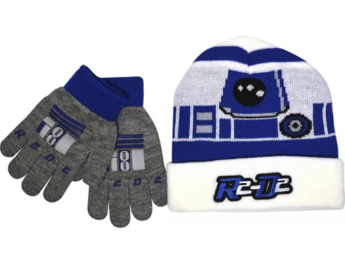 Star Wars R2-D2 Stocking Cap And Gloves