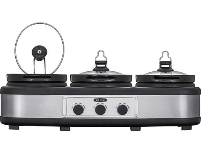 Bella 3 X 2.5-quart Triple Slow Cooker