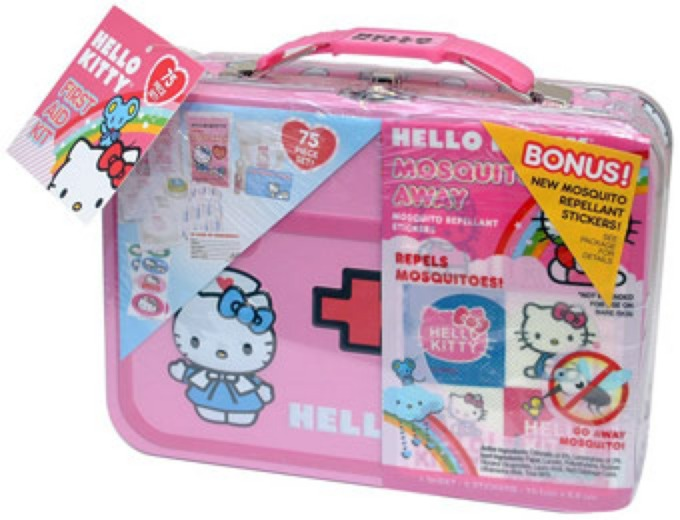Hello Kitty 75-Piece First Aid Kit