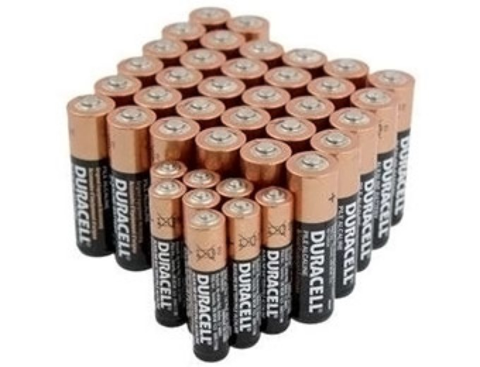 40-Pack Duracell AA/AAA Batteries