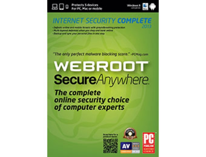 Free Webroot SecureAnywhere Complete 2013
