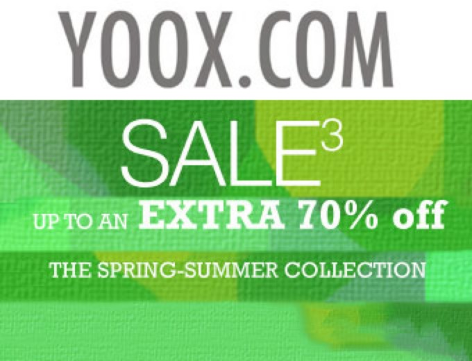 Extra 70% off YOOX Spring-Summer Collection