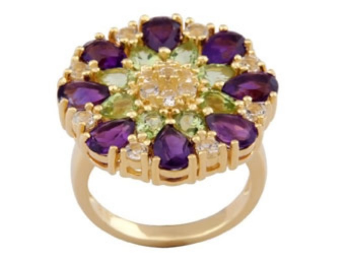18k Gold Plated Sterling Silver Ring
