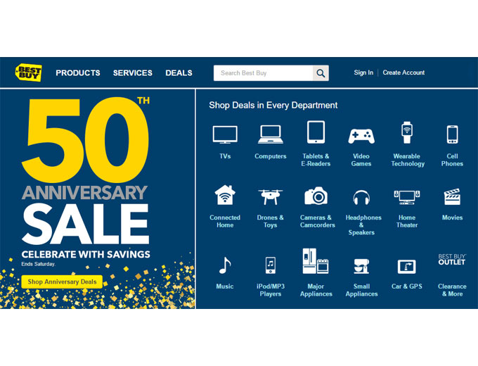 Best Buy 50th Anniversary Sale