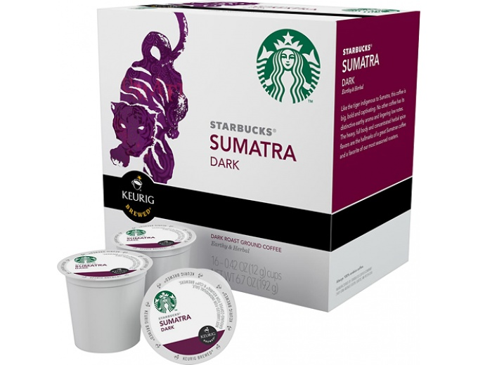 Keurig Starbucks Sumatra Coffee K-Cups
