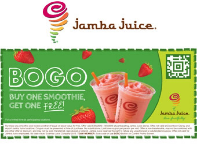 image regarding Jamba Juice Printable Coupon identified as Package: Obtain Just one Purchase A single Free of charge Coupon Jamba Juice Fruit