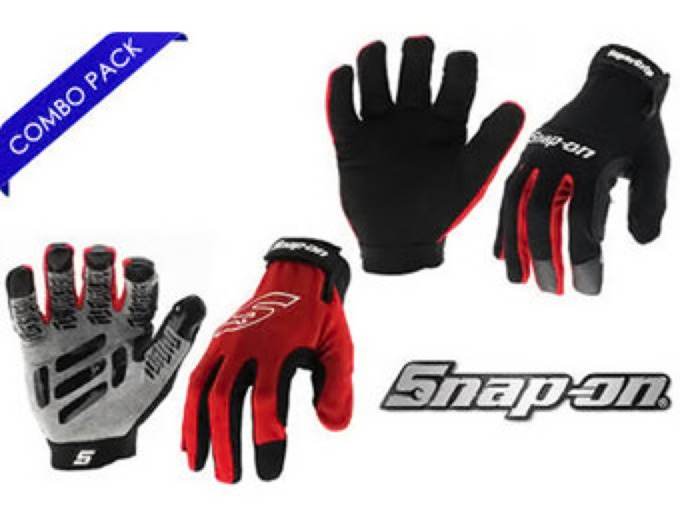 2 Pairs Snap-On Mechanic & SureGrip Gloves