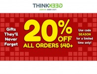 Extra 20% off Orders of $40+ at ThinkGeek.com