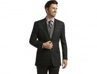 70% off Signature Collection Tailored Fit Windowpane Sportcoat