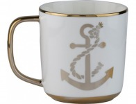 53% off Aspen Gold Anchor 12oz Mugs - Set of 4, Bright Gold