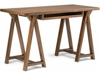 40% off Simpli Home Sawhorse Small Desk, Medium Saddle Brown
