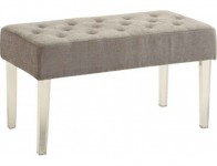 70% off Designs4Comfort Gray Leg Bench Ottoman