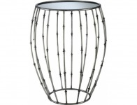61% off Gold Coast Pewter Mirrored End Table