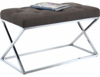 60% off Designs4Comfort Taupe Bench Ottoman