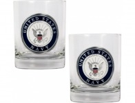 74% off U.S. Navy 14oz Rocks Glass Set