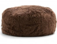 69% off Lux by Big Joe STOP Ottoman Shag Bean Bag, Brown