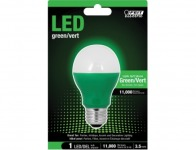 64% off Feit Green LED Performance Party Light Bulb (A19/G/10KLED)