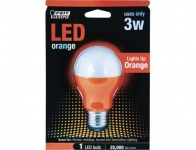 64% off Feit Orange LED Performance Party Light Bulb