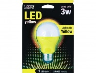 64% off Feit Yellow LED Performance Party Light Bulb (A19/Y/LED)