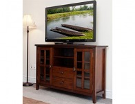 57% off Stratford Auburn Brown TV Media Stand