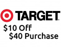 $10 off $40 order at Target with Store Pickup